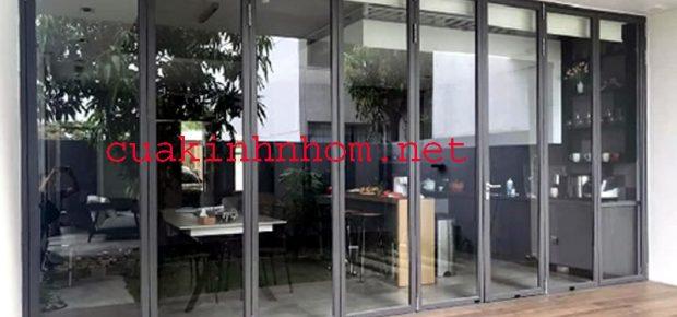 Mẫu cửa nhôm kính đẹp 2021 cho cửa đi chính